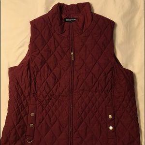 Jones New York Signature Maroon Vest